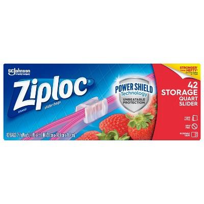 Ziploc Slider Quart Storage Bags - 42ct