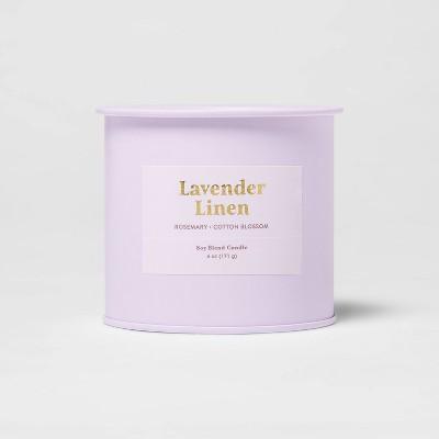 6oz Tin Jar Lavender Linen Candle - Threshold™