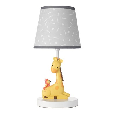 Lambs & Ivy Mighty Jungle Lamp with Shade & Bulb (Includes CFL Light Bulb)