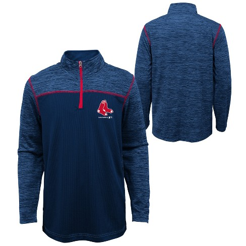 MLB Boston Red Sox Boys' In the Game 1/4 Zip Sweatshirt - image 1 of 3