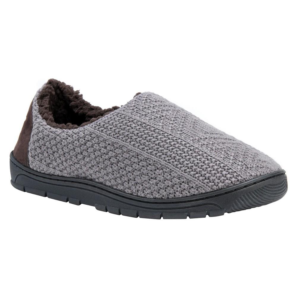 Men's Muk Luks John Loafer Slippers - Slate Gray L