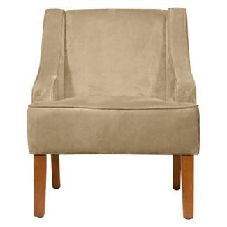Velvet Swoop Arm Chair Forest Green - HomePop