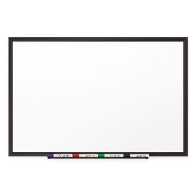 Quartet Classic Porcelain Magnetic Whiteboard 36 x 24 Black Aluminum Frame 2543B