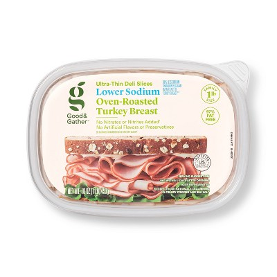 Lower Sodium Oven Roasted Turkey Breast Ultra-Thin Deli Slices - 16oz - Good & Gather™