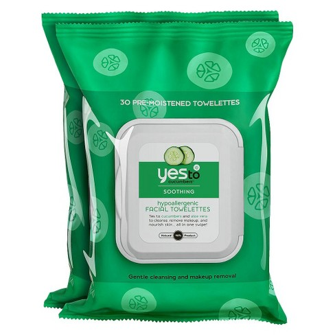 Yes to Cucumbers Facial Wipes - 2pk - image 1 of 4