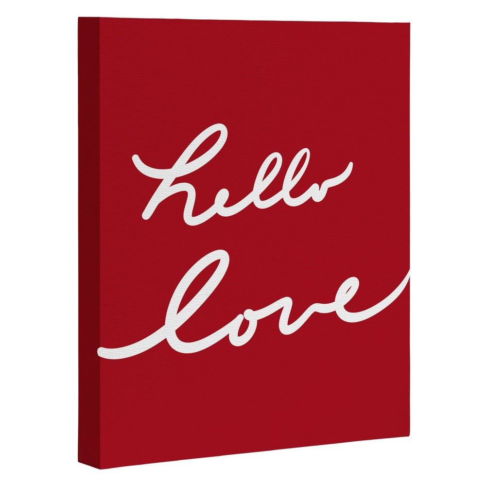 8 34 X 10 34 Lisa Argyropoulos Hello Love Red Art Canvas Deny Designs