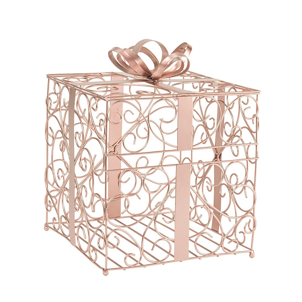 Cathy's Concepts Rose Gold Reception Gift Card Holder
