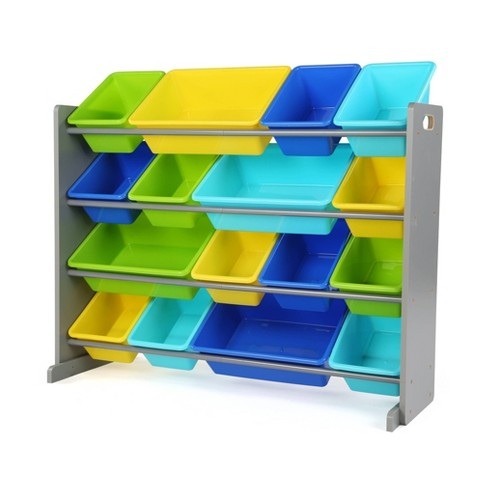 Kids' Super-Size Toy Organizer Elements Collection Gray - Humble Crew - image 1 of 4
