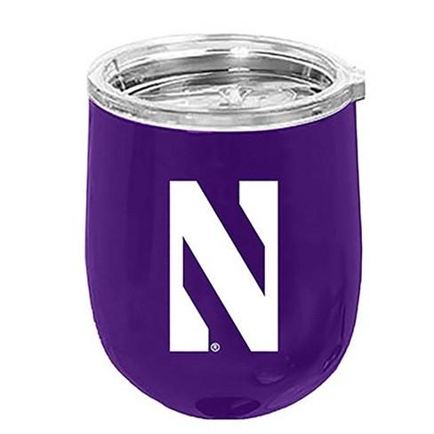NCAA Northwestern Wildcats 14oz Matte Stainless Steel Wine Tumbler - image 1 of 1