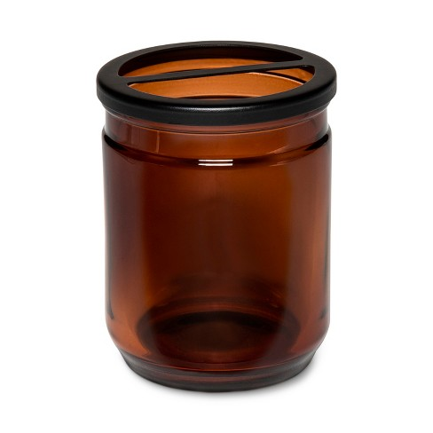Apothecary Toothbrush Holder Amber