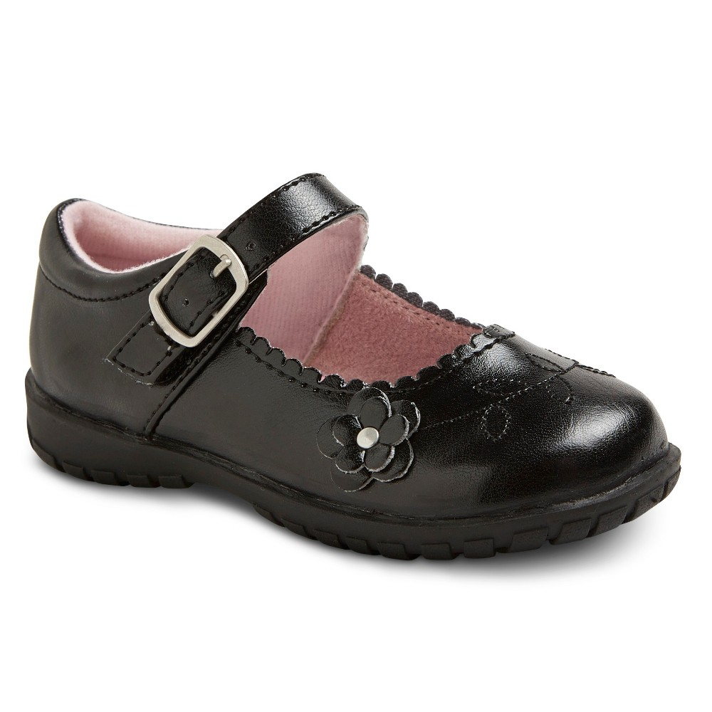 Image of Toddler Girls' Allison Mary Jane Shoes - Black 10, Girl's