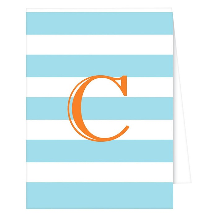 RosanneBECK Collections Note Cards - Cabana Stripe Monogram - image 1 of 1