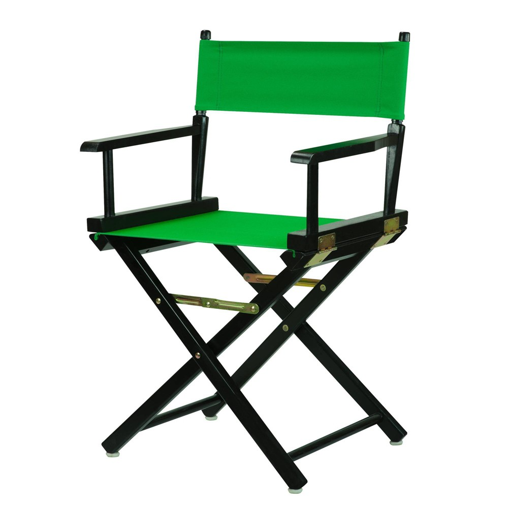 Director S Chair With Black Frame And Green Canvas