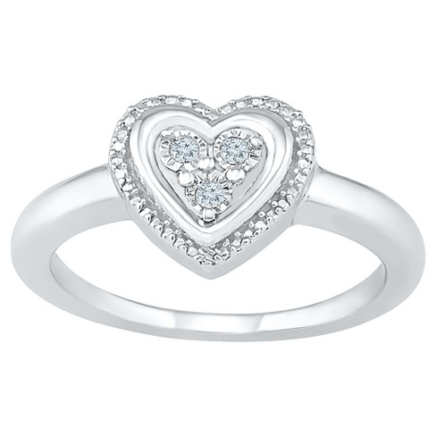 Diamond Accent Round White Diamond Heart Ring in Sterling Silver (I-J,I2-I3) - image 1 of 2