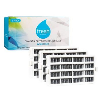 Mist Fresh Replacement Refrigerator Air Filter Whirlpool W10311524, AIR1 (3pk)