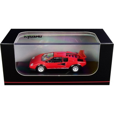 Lamborghini Countach LP500S Red 1/64 Diecast Model Car by Kyosho