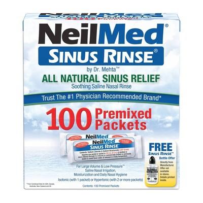 NeilMed Sinus Rinse Regular Refill Packets - 100ct