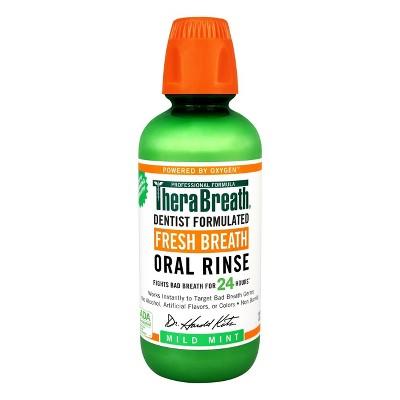 TheraBreath Fresh Breath Oral Rinse Mild Mint - 16 fl oz