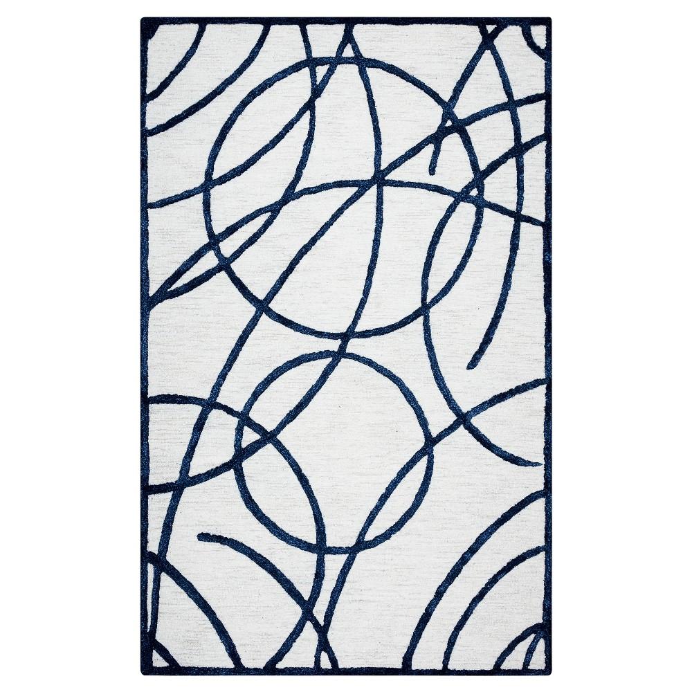 Geometric/Trellis Rug - Off White - (5'X8') - Rizzy Home