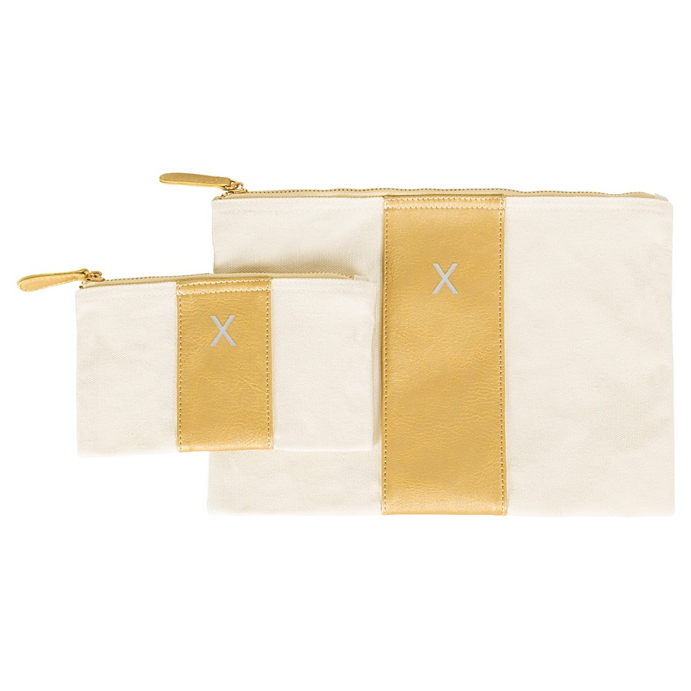 Cathy's Concepts Monogram Travel Clutch - Gold X, Girl's, Size: Small, Gold - X