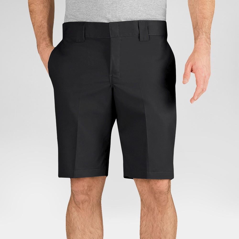 Dickies Men's Slim Fit Flex Twill 11 Shorts- Black 36
