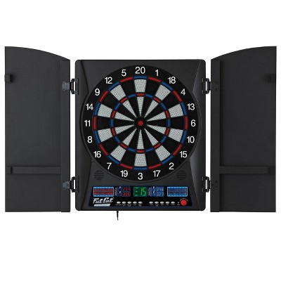Fat Cat Electronx 13.5 Inch Electronic Soft Tip Classic Dartboard Game Cabinet