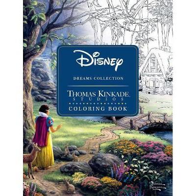 Disney Dreams Collection Thomas Kinkade Studios Coloring Book - (Paperback)