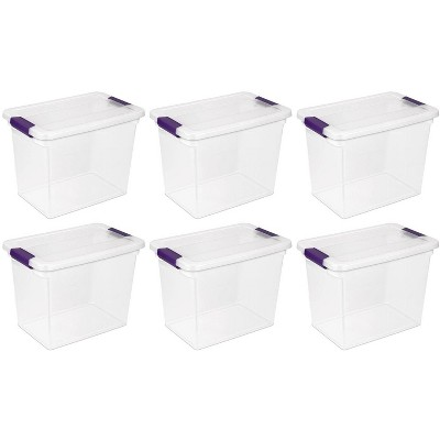Sterilite 27 Quart ClearView Clear Plastic Stacking Storage Container (6 Pack)