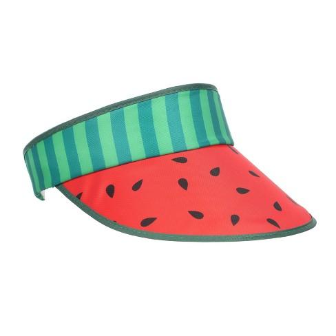 Retro Visor Watermelon Green Pink - Sun Squad™ - image 1 of 2