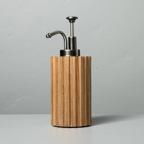 Acacia Wood Soap Dispenser - Hearth & Hand™ with Magnolia - image 1 of 3