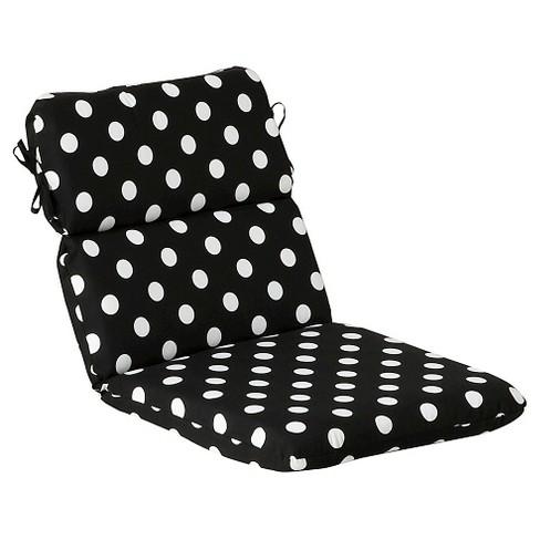 Outdoor Chair Cushion Black White Polka Dot Target