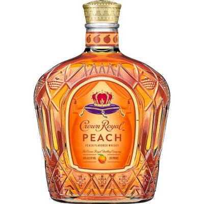 Crown Royal Peach Flavored Canadian Whisky - 750ml Bottle