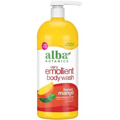 Alba Botanica Very Emollient Honey Mango Bath & Shower Gel 32oz