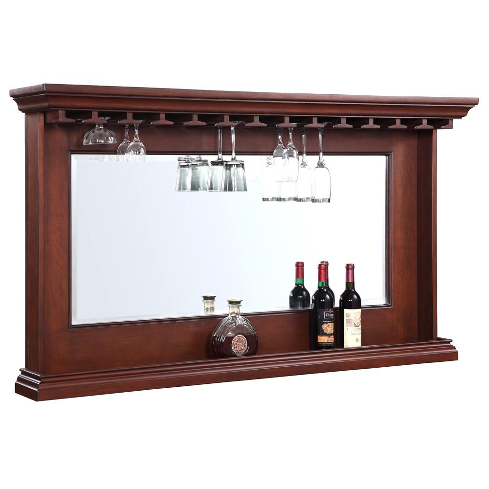 Hathaway Seville Back Bar Mirror - Walnut, Brown