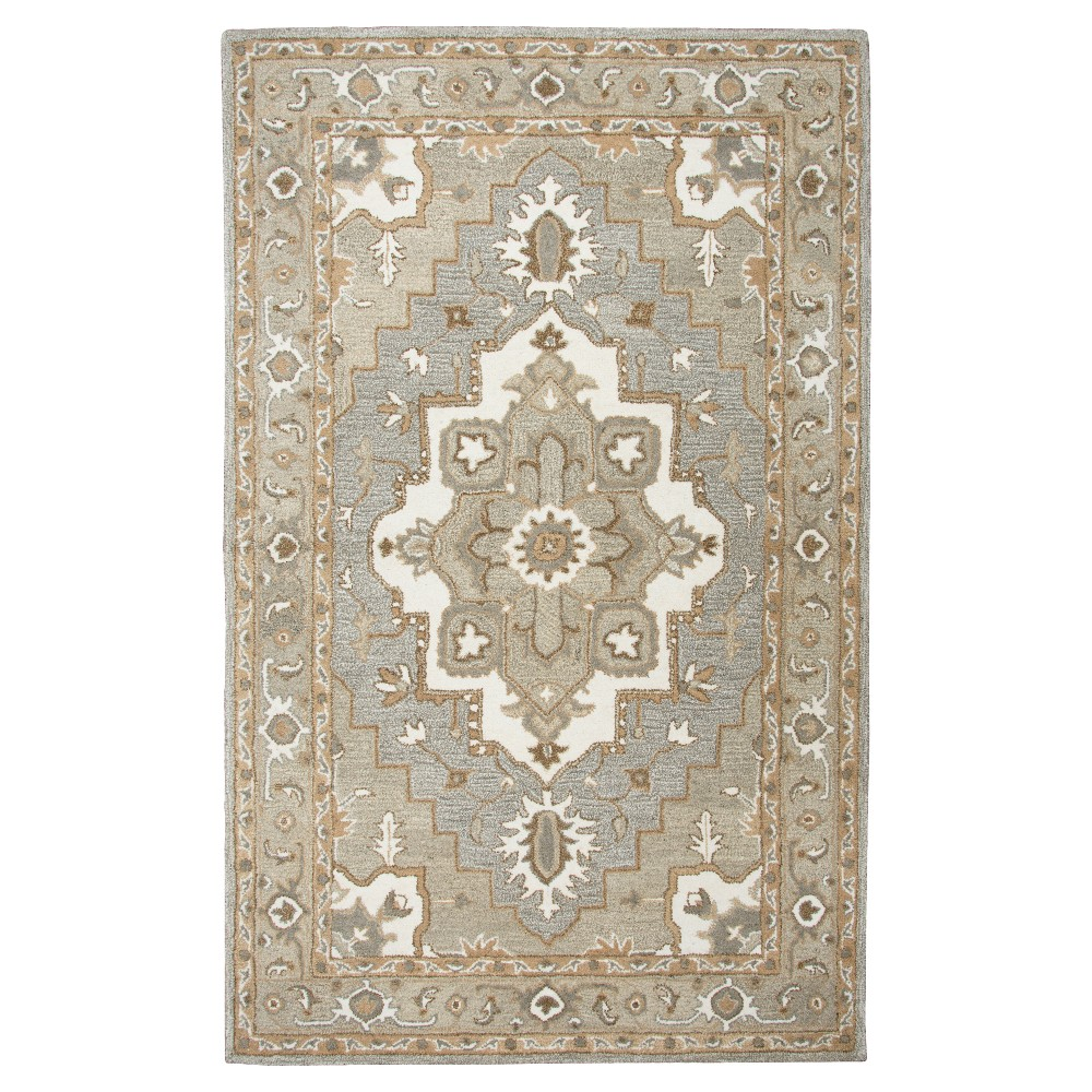 Oriental Medallion - Gray - (3'X5') - Rizzy Home