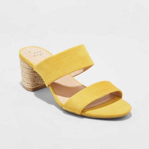 Women's Patricia Espadrille Block Heeled Pumps - A New Day™ - image 1 of 3