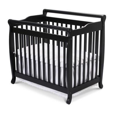 DaVinci Emily 2-in-1 Mini Crib and Twin Bed - Black