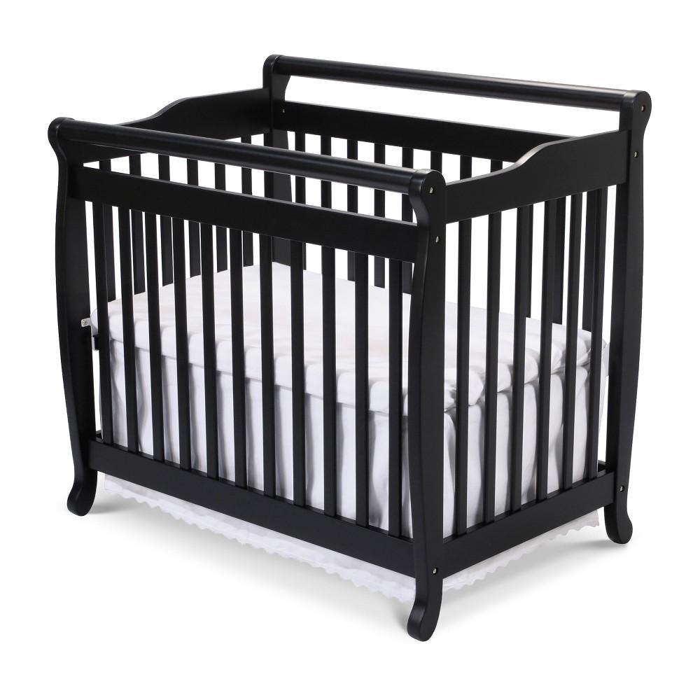 Image of DaVinci Emily 2-in-1 Mini Crib and Twin Bed - Black