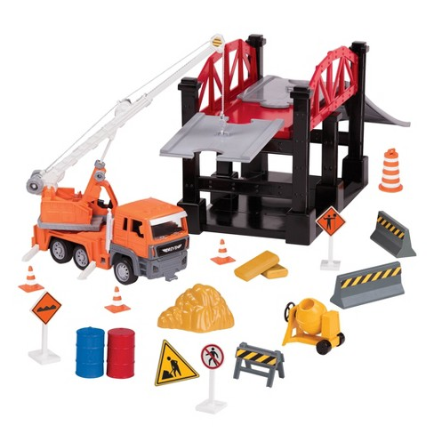 DRIVEN – Micro Series – Construction Site Bridge Playset (35 pc) - image 1 of 3
