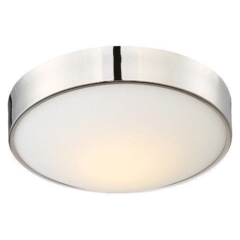 Aurora Lighting 1 Light Polished Flush Mount Ceiling Lights Nickel - image 1 of 1