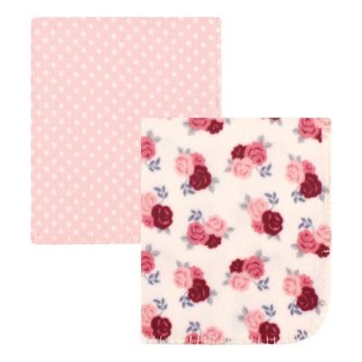 Hudson Baby Infant Girl Fleece Blankets, Floral, One Size