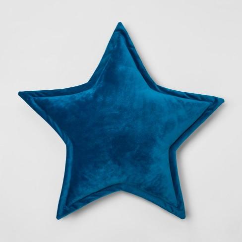 Star Throw Pillow Blue - Pillowfort™ - image 1 of 2