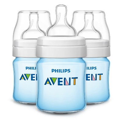 Philips Avent Anti Colic Baby Bottle 125ML/4oz 3pk - Blue