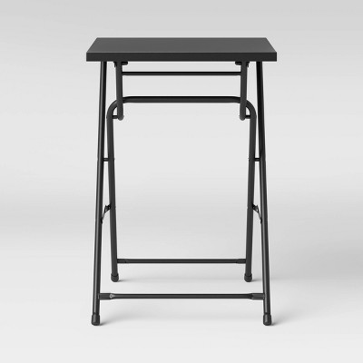 "20"" Square Metal Patio Folding Table - Black - Room Essentials™"