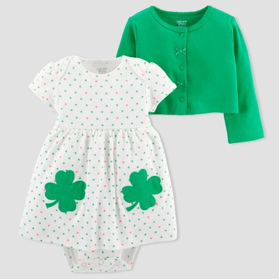 Baby Girls' Shamrock 2pc Dress Set - Just One You® made by carter's Green 12M