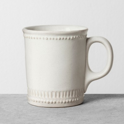9oz Mug Beaded White - Hearth & Hand™ with Magnolia