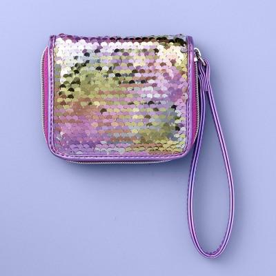 Girls' Flip Sequin Wallet - More Than Magic™ Purple
