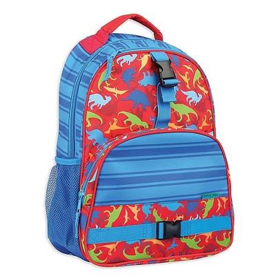 Stephen Joseph All Over Print Kids Backpack School Bag with Buckles, Adjustable Shoulder Straps, and 2 Mesh Pockets for Boys and Girls, Dinosaur