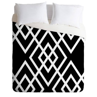 King Three Of The Possessed Inbetween Comforter Set Black/White - Deny Designs