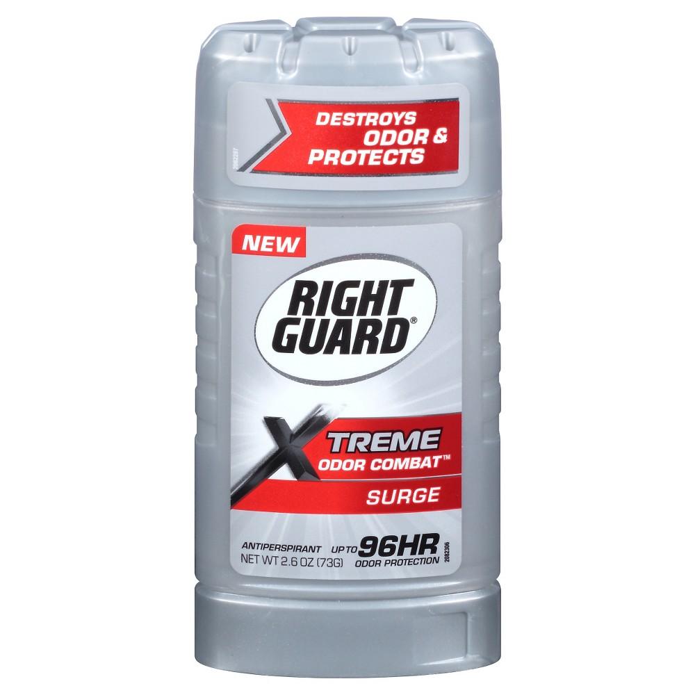 Right Guard Xtreme Odor Combat Surge Invisible Solid Antiperspirant and Deodorant - 2.6oz
